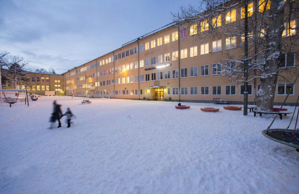 Le Lycée Français Saint Louis de Stockholm en hiver