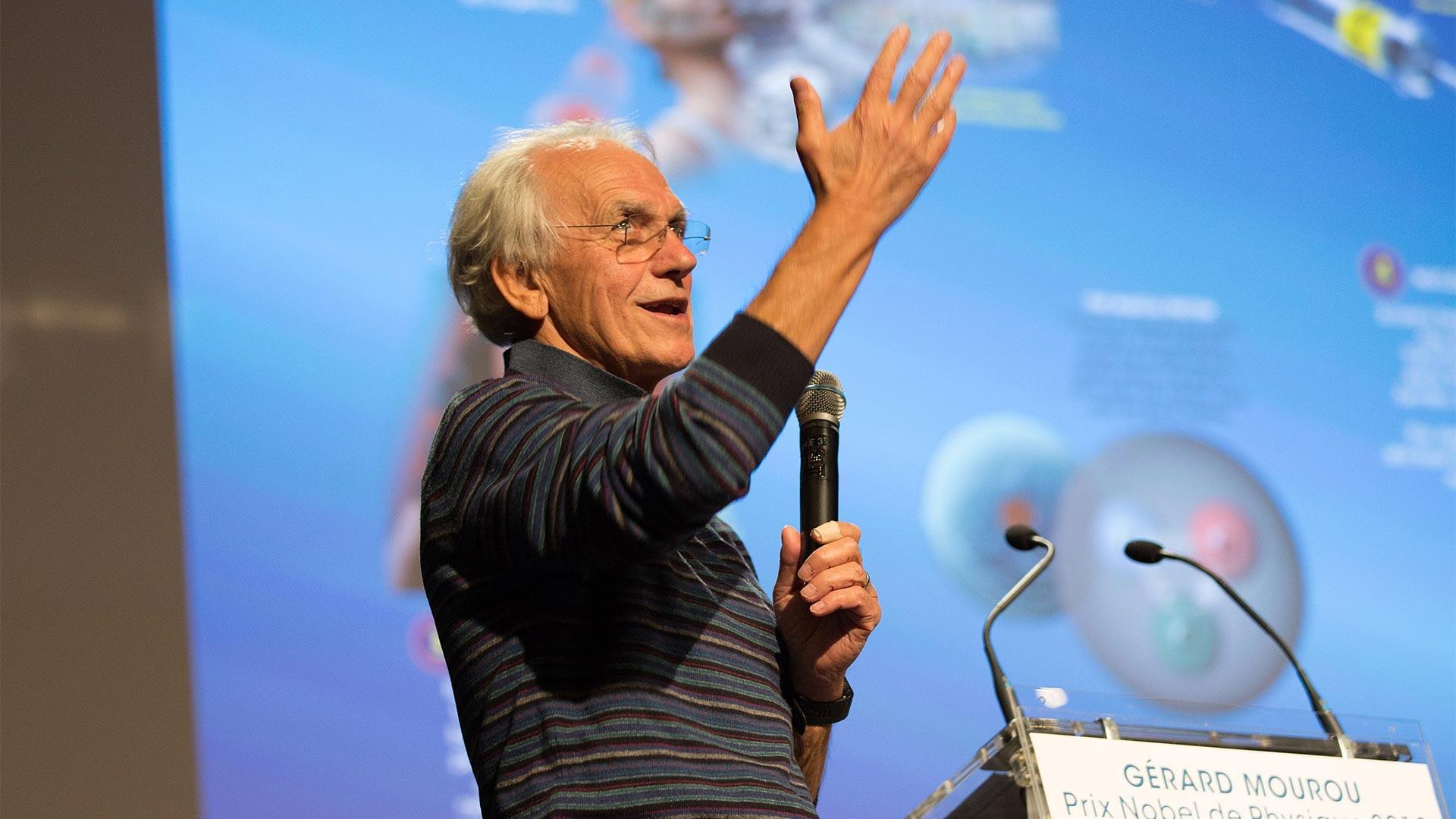 Nobel Prize winner – Gérard Mourou at the LFSL!