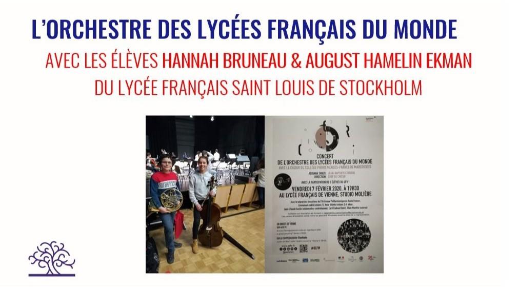 Orchestre des Lycées Français du Monde ger konserter i Wien och i Paris