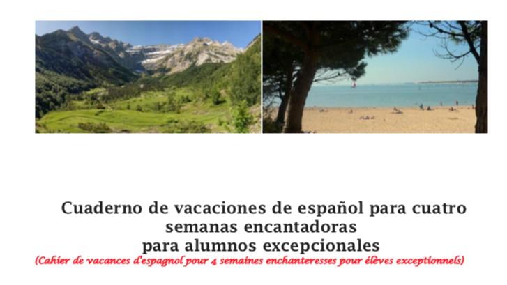 Cuaderno de vacaciones de español – Cahier de vacances d'espagnol